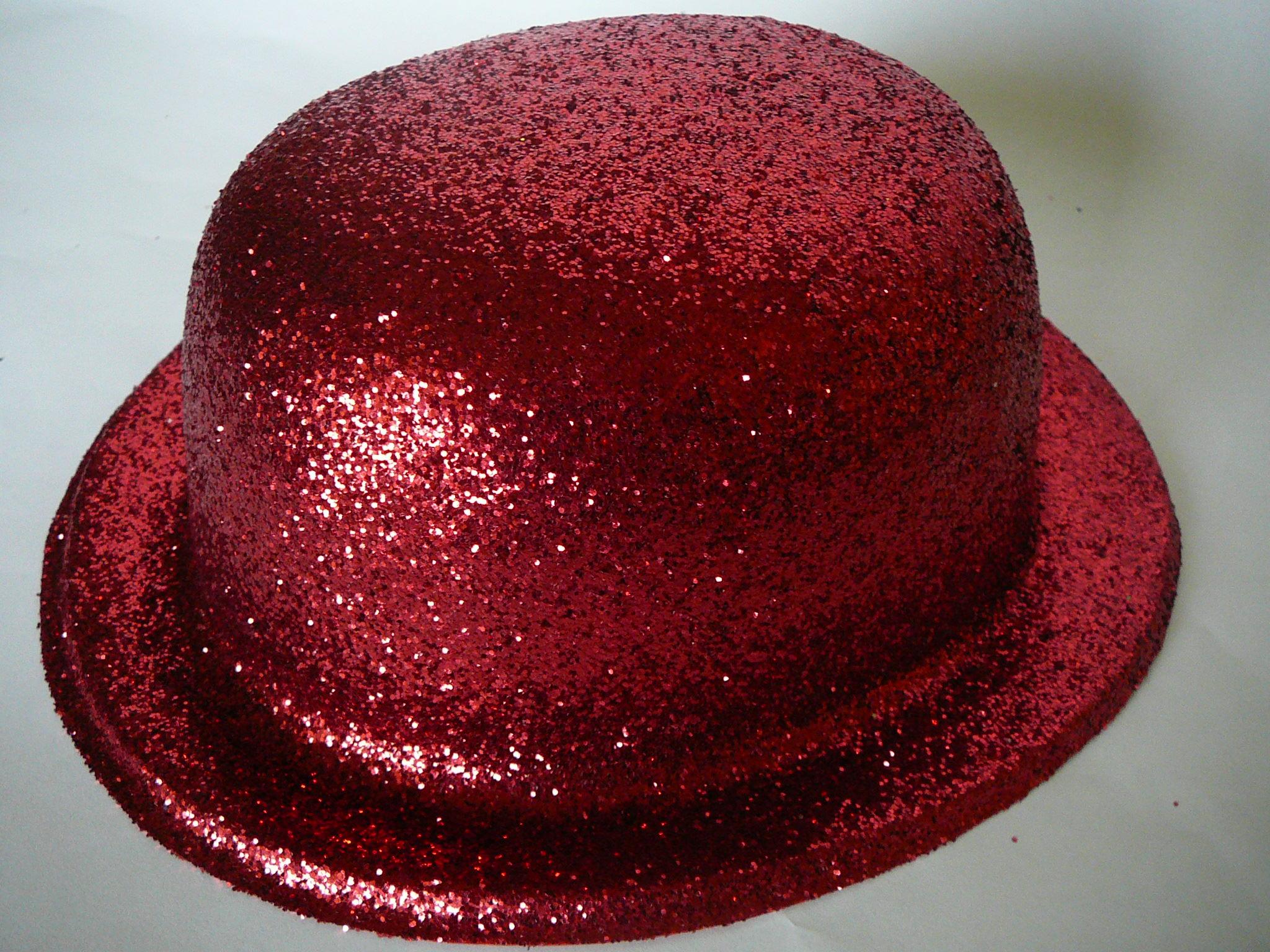 Buřinka s glitry červená  47bcffb2c3